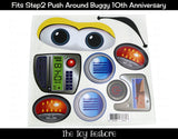 Decals Replacement Sticker Fits Step2 10th Anniverary Push Around Buggy Ride-on Car