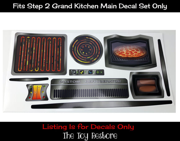 The Toy Restore Decals Replacement Stickers Fits Step2 Grand Kitchen