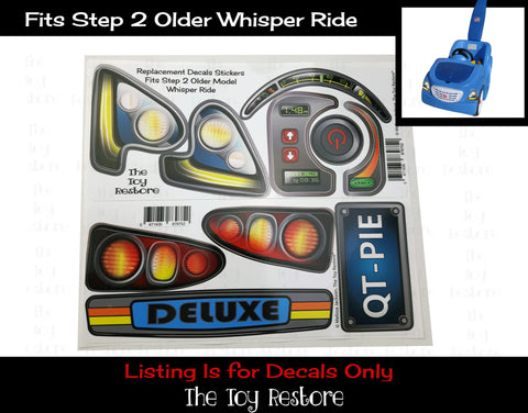 Decals Replacement Sticker Fits Step2 Older Blue Whisper Ride Buggy Ride-on Car