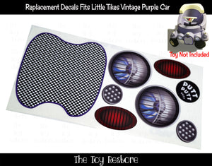 Spare Decals Replacement Stickers fits Vintage Little Tikes Jalopy Custom Cozy Coupe Car