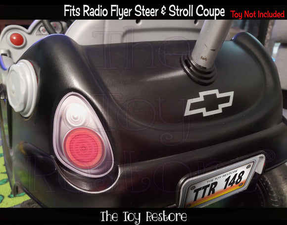 The Toy Restore Replacement Stickers Fits Radio Flyer Steer & Stroll Coupe Push Buggy Ride-on Car