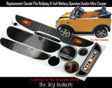 The Toy Restore Replacement Stickers fits Austin Mini Cooper Rollplay 6V Battery-Operated Ride-on Kids Car Full Set