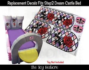 The Toy Restore Replacement Stickers Spare Decals Fits Step2 Princess Dream Castle Bed