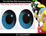 Eye Pupil Decals Replacement Stickers fits Little Tikes 30th Ann. Custom Cozy Coupe Car