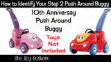 Decals Replacement Sticker Fits Step2 10th Anniverary Push Around Buggy Ride-on Car Girl