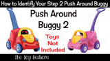 Decals Replacement Sticker Fits Step2 Push Around Buggy 2 II Ride-on Car