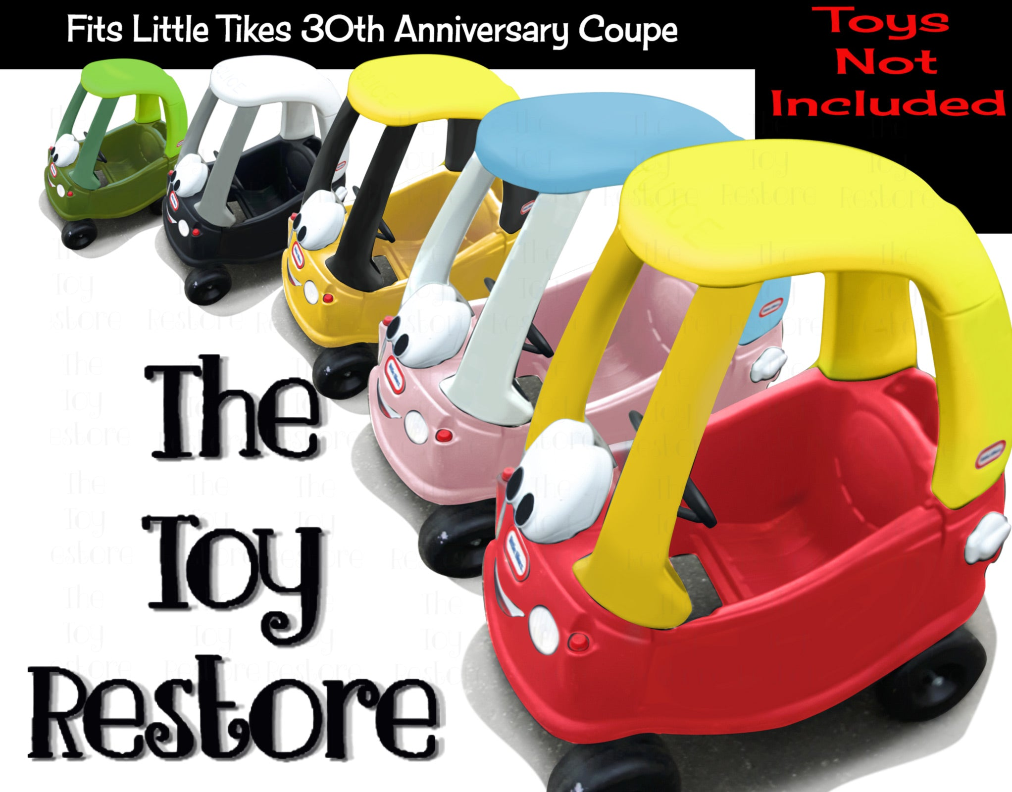 Replacement Sticker Fits Little Tikes 30th Anniversary Cozy Coupe Car The Toy Restore