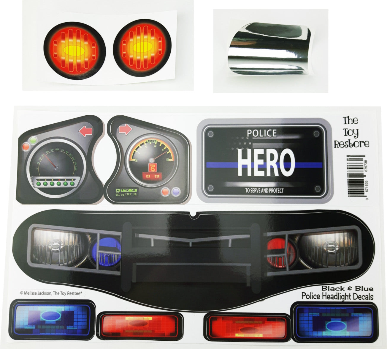 Police Decals Replacement Stickers Fits Little Tikes Custom Cozy Coupe The Toy Restore [ 1174 x 1304 Pixel ]