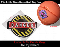The Toy Restore Replacement Decals Stickers fits Little Tikes Basketball Toy Box Danger