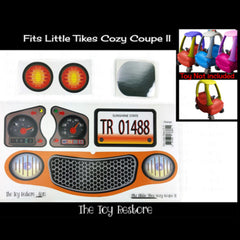 Replacment Stickers Fits Little Tikes Cozy Coupe II Ride-on Car Toy Color choice