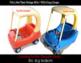 Spare Decals Replacement Stickers fits Vintage Little Tikes Custom Cozy Coupe Car