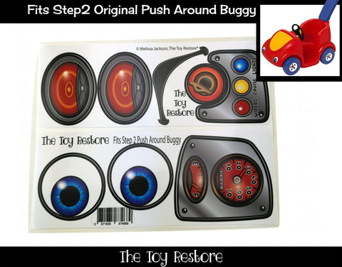 Decals Replacement Sticker Fits Step2 Original Push Around Buggy Ride-on Car Toy