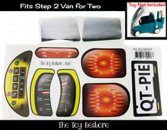 Minivan Decals Replacement Sticker Fits Step2 Van for Two Ride-on Car Toy