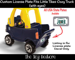 Florida Custom License Plate Replacement Sticker Fits Little Tikes Cozy Coupe Truck