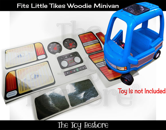 The Toy Restore Replacement Stickers Fits Little Tikes Classic Woody Minivan Decals