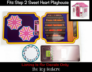 Replacement Stickers Decals fits Step 2 Step2 Playhouse Sweet Heart Play House