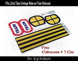 The Toy Restore Replacement Stickers Fits Little Tikes Tykes Vintage Ride-On Train Battery Operated Railroad One Car & Caboose