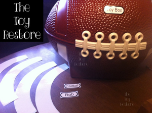 The Toy Restore Replacement Decals Stickers fits Little Tikes Football Toy Box Customizable
