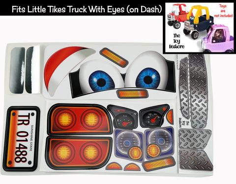 Replacement Stickers fits Little Tikes Custom Cozy Coupe Older Truck With Eyes Boy