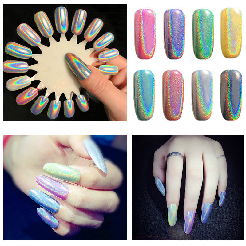 1g/box Holographic Nail Powder Great for Unicorn nails | Felign