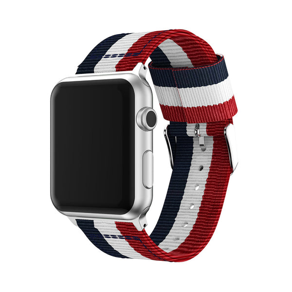 The Patriot Red White and Blue woven nylon strap for Apple watch 38mm/42mm