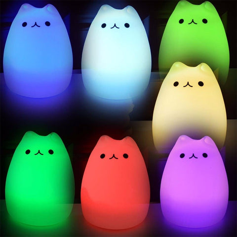 Sweet Dreams Kitties 3D One Touch Color Changing LED Nightlight