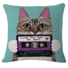 Mix Tape Kitty Pillow