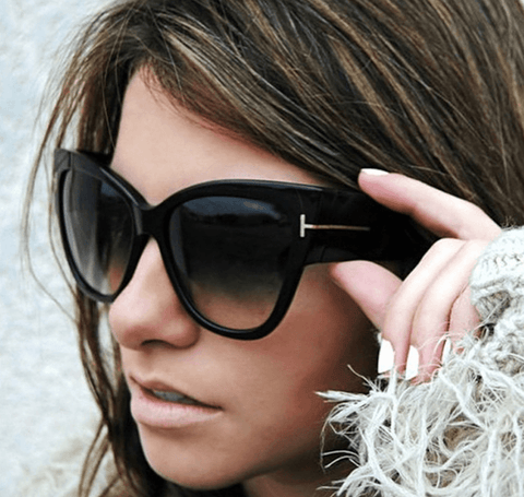 Tomcat Furred Cat Eye Sunglasses