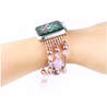 Women's Lavender Agate Stretch Bracelet for Apple Watch Band for iWatch 42mm 38mm Sizes