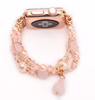 Women's Pink Agate Stretch Bracelet for Apple Watch Band for iWatch 42mm 38mm Sizes