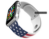 Born in USA Apple Watch Band Silicone iWatch 38mm 42mm