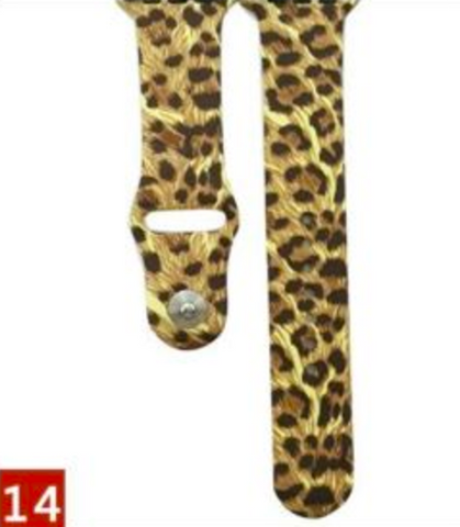 Animal Instinct Silicone Watch Band for Apple Watch 38mm 42mm