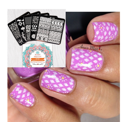 5 Piece Set Too Pretty Nail Art Stamp Template