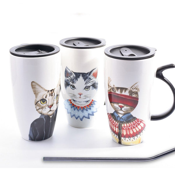 City Kitty Cat Mugs