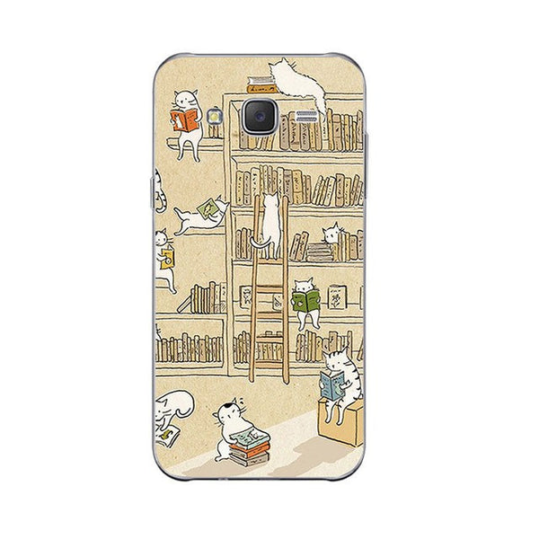 Library Cat-a-log Phone Case For Samsung Galaxy J3 J5 J7 Soft