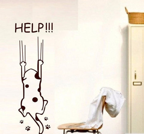 Help! Claw Marks Kitty Refrigerator/Wall Decal
