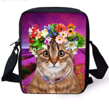 Kitty Flower Power Shoulder Bags