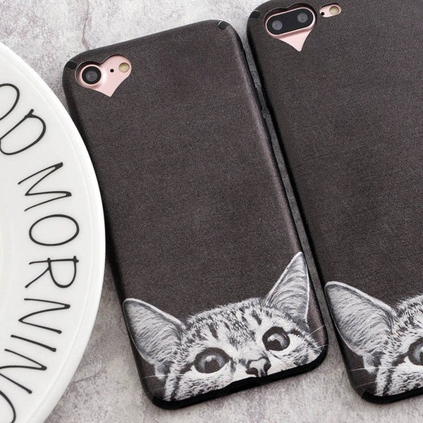 Peek-a-boo Kitty Phone Case for Apple iPhone