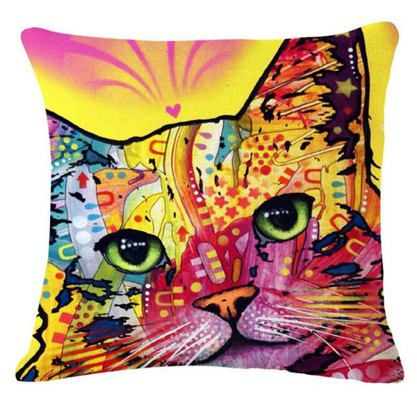 Tie Dye Kitty Pillows