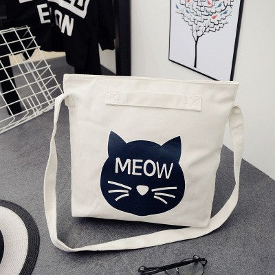 Meow Canvas Tote