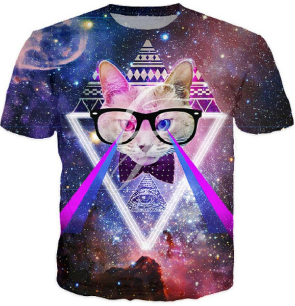 3D Printed Cat T Shirts Jedi Mind Trick Cat