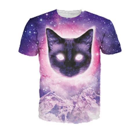 3D Printed Cat T Shirts Hypno Kitty