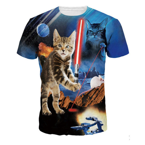 3D Printed Cat T Shirts Jedi Kitten