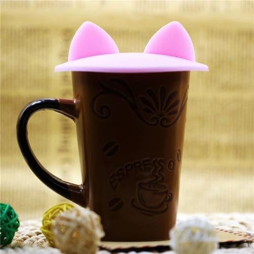 Kitty Ears Silicone Thermal Cup Cover