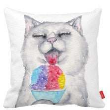 Snowcone Bliss Kitty Pillow