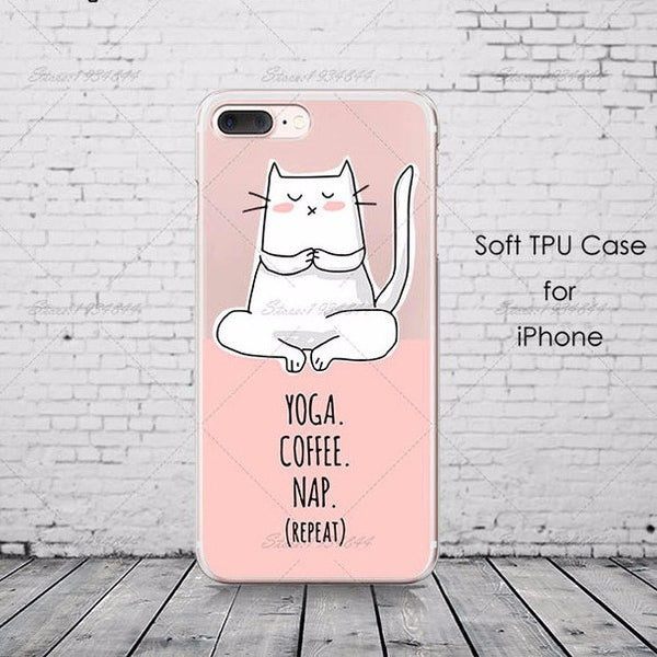 Yoga Coffee Nap Case for Apple iPhone
