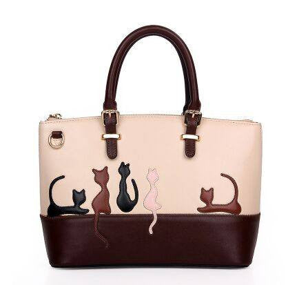 Cats So Fancy women's leather bag