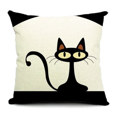 Mid Century Modern Kitty Pillow