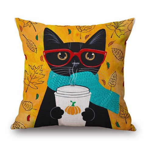 Hipster Cat Pillows