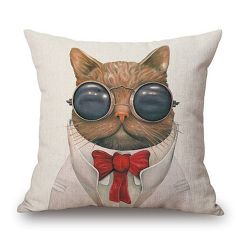 Steampunk Kitty Pillow